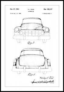 Bildverkstad Patentzeichnung - Cadillac II Poster
