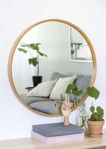 Hübsch Spegel Bambu 80 cm Ø