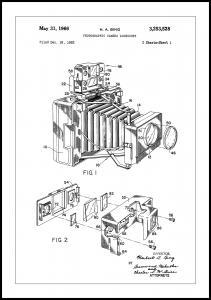 Bildverkstad Patent Print - Photographic Camera - White Poster