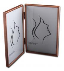 Estancia Slät Metall Aufklappbarer Bilderrahmen Kupfer 10x15 cm - 2 Bilder