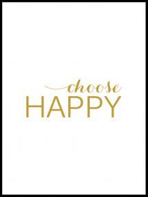 Bildverkstad Choose happy - Gold