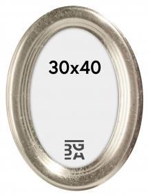 Bubola e Naibo Molly Oval Silber 30x40 cm