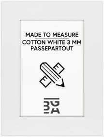 Egen tillverkning - Passepartouter Passepartout Cotton White 3 mm - Maßanfertigung