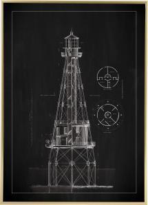 Bildverkstad Schiefertafel - Leuchtturm - Ship Shoal Lighthouse