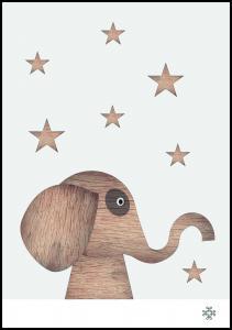 Bildverkstad Wood elephant Light
