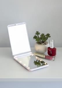KAILA KAILA Kosmetikspiegel Fold III Weiß - 12x8 cm