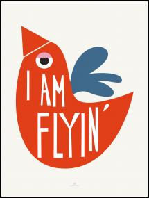 Bildverkstad I Am Flying - Red