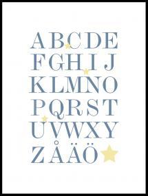 Bildverkstad ABC - Blau/Beige - 30x40 cm