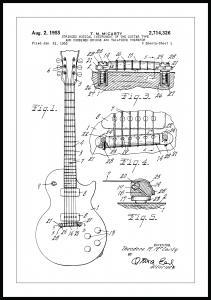 Lagervaror egen produktion Patentzeichnung - E-Gitarre I Poster