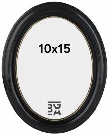 Estancia Eiri Mozart Oval Schwarz 10x15 cm