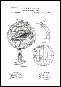 Bildverkstad Patentzeichnung - Astronomisches Modell - Weiß