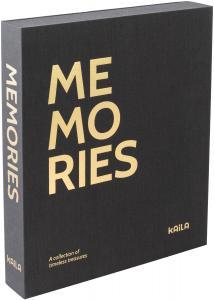 KAILA KAILA MEMORIES Black - Coffee Table Photo Album (60 Schwarze Seiten)