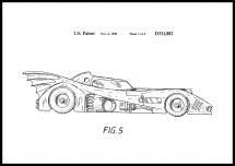 Bildverkstad Patentzeichnung - Batman - Batmobile 1990 III Poster