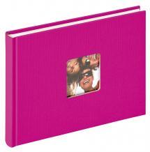 Walther Fun Album Rosa - 22x16 cm (40 weiße Seiten / 20 Blatt)