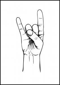 Bildverkstad rocknroll Poster