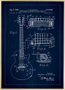 Bildverkstad Patentzeichnung - E-Gitarre I - Blau
