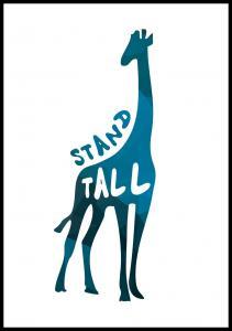 Bildverkstad Giraffe stand tall - Blue