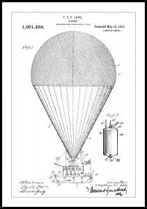 Bildverkstad Patentzeichnung - Luftschiff - Weiß
