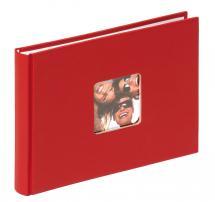 Walther Fun Album Rot - 22x16 cm (40 weiße Seiten / 20 Blatt)