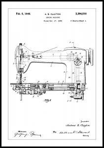 Lagervaror egen produktion Patentzeichnung - Nähmaschine I