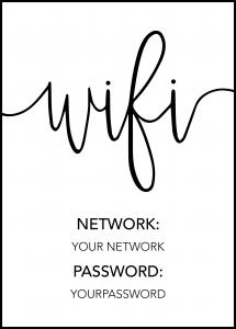 Personlig poster Wifi