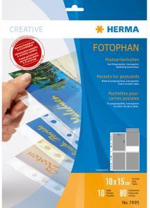 Herma Fototaschen für Ansichtskarten - 10 Blatt