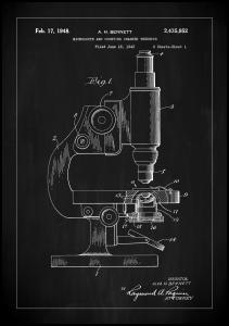 Bildverkstad Patent Print - Microscope - Black Poster