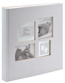 Walther Little Foot Album Grau-Weiß - 28x30,5 cm (60 weiße Seiten / 30 Blatt)