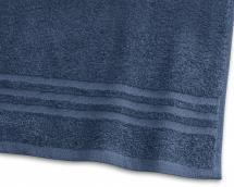 Borganäs of Sweden Badetuch Basic Frottee - Marineblau 65x130 cm