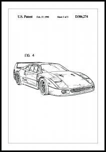 Bildverkstad Patentzeichnung - Ferrari F40 II