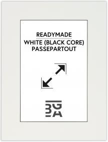Galleri 1 Passepartout Weiß (schwarzer Kern) 40x50 cm (29x39 cm)