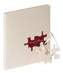 Walther Puzzle Gästebuch - 23x25 cm (144 weiße Seiten / 72 Blatt)