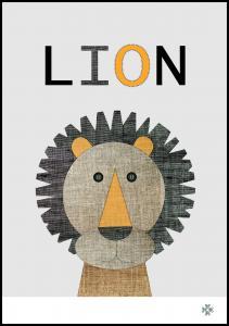 Bildverkstad Fabric lion