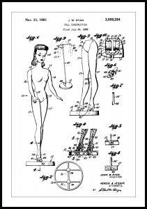 Bildverkstad Patentzeichnung - Barbie Poster