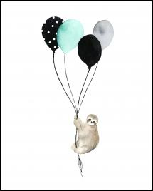 Bildverkstad Sloth With Balloons