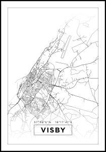 Bildverkstad Map - Visby - White