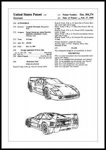 Bildverkstad Patentzeichnung - Ferrari F40 I