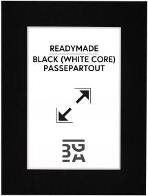 Galleri 1 Passepartout Schwarz (weißer Kern) 40x50 cm (29x39)
