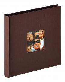 Walther Fun Album Dunkelbraun - 18x18 cm (30 schwarze Seiten / 15 Blatt)