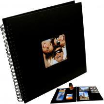 BGA Nordic Fun Spiralalbum Schwarz - 30x30 cm (50 schwarze Seiten / 25 Blatt)