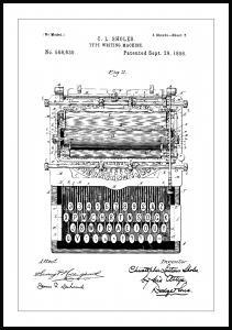 Bildverkstad Patentzeichnung - Schreibmaschine Poster