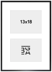 Galleri 1 Edsbyn Collage-Rahmen XXIV Schwarz - 2 Bilder (13x18 cm)