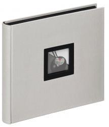 Walther Black & White Album Grau - 26x25 cm (50 schwarze Seiten / 25 Blatt)