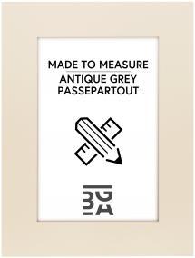 Egen tillverkning - Passepartouter Passepartout Antique grey - Maßanfertigung (Weißer Kern)