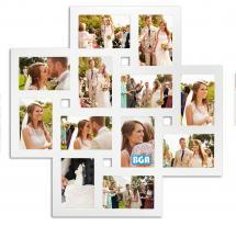 ZEP Milano Collage-Rahmen Acrylglas Weiß - 12 Bilder