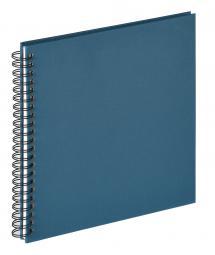 Walther Fun Spiralalbum Blau - 30x30 cm (50 weiße Seiten / 25 Blatt)