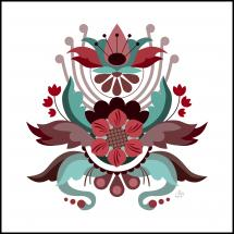 Bildverkstad Kurbits flower red