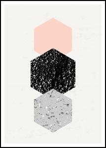 Bildverkstad Abstract Hexagons Poster