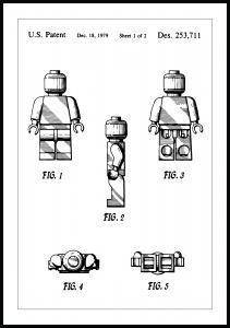 Lagervaror egen produktion Patentzeichnung - Lego I Poster