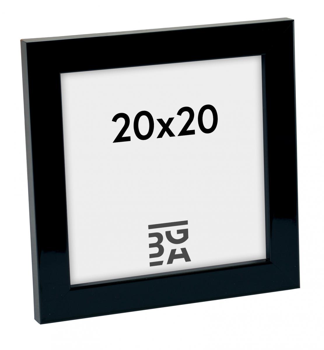 Rahmen Uppsala Schwarz Hochglänzend 20x20 cm